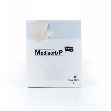 MEDISORB P 10X10 w cenie 16,65zł, marka MATOPAT w kategori OPATRUNKI I BANDAŻE
