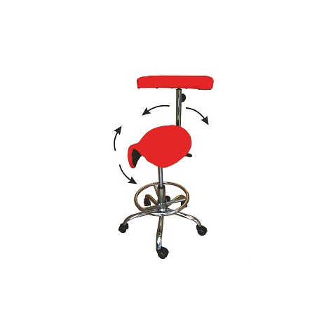 Stołek medyczny obrotowy z regulacją kąta siedziska w cenie 810,00zł marka MEDIKOLL