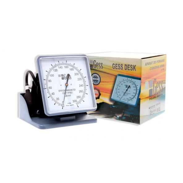 ciśnieniomierz zegarowy stołowy GESS DESK w cenie 82,41zł, marka GESS - POLSKA MARKA w kategori CIŚNIENIOMIERZE ZEGAROWE/STA...
