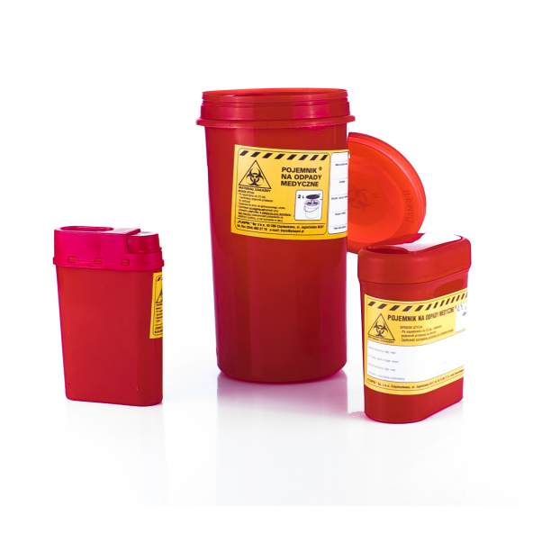 Pojemnik na odpady medyczne w cenie 1,46zł marka GESS - POLSKA MARKA