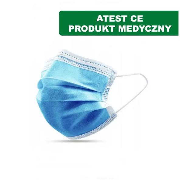 Maseczki chirurgiczne - ATESTOWANA w cenie 0,60zł marka PRODUCENT LOSOWY