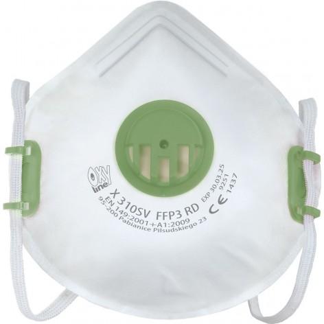 Półmaska filtrująca ffp3 Oxyline X 310 SV RD w cenie 25,83zł marka Oxyline