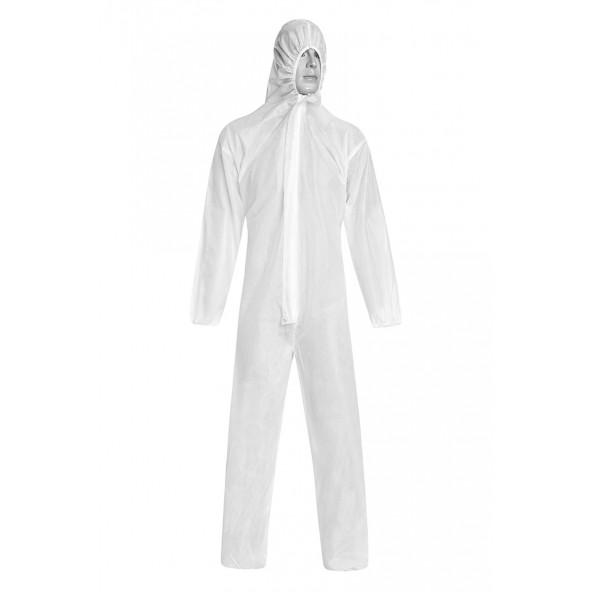 Biały Jednorazowy kombinezon ochronny z włókniny w cenie 26,00zł marka Or-sat