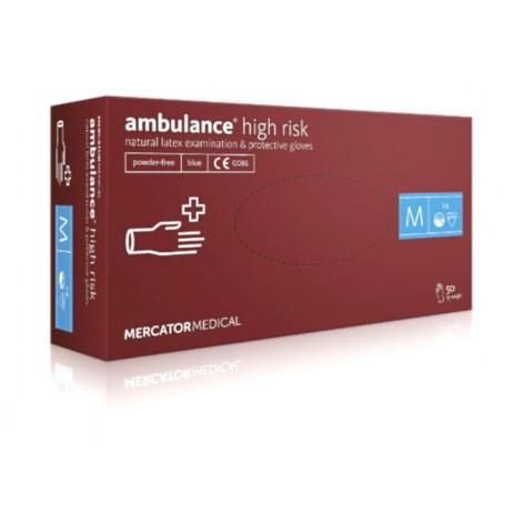 Długie rękawice lateksowe High Risk A'50 w cenie 52,92zł marka Mercator Medical