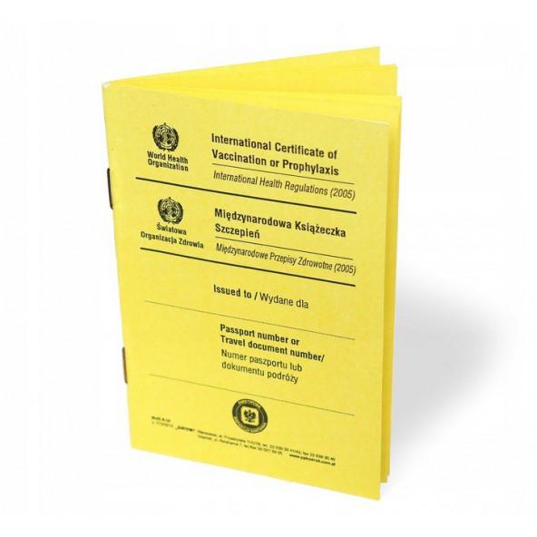 Międzynarodowa Książeczka Szczepień Żółta 2021 w cenie 6,15zł sklep medyczny store   wysyłka dziś
