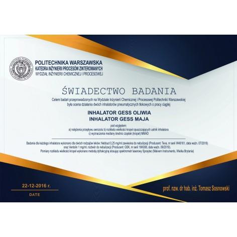 Inhalator tłokowy MAJA w cenie 105,00zł marka GESS - POLSKA MARKA