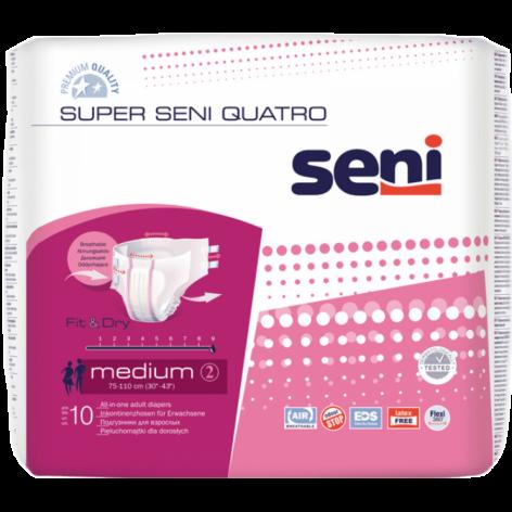 Super Seni QUATRO - pieluchomajtki w cenie 29,72zł marka SENI