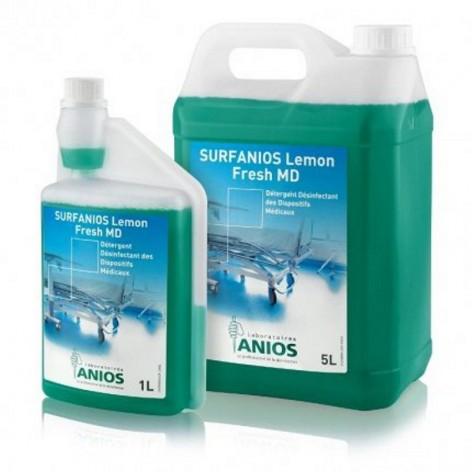 SURFANIOS / LEMON FRESH płyn do mycia wyrobów i powierzchni medycznych w cenie 58,00zł, marka ANIOS  w kategori DEZYNFEKCJA ...